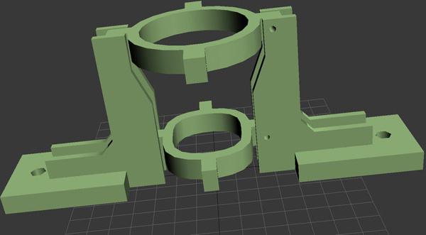 Printable MakerBot Dremel mount