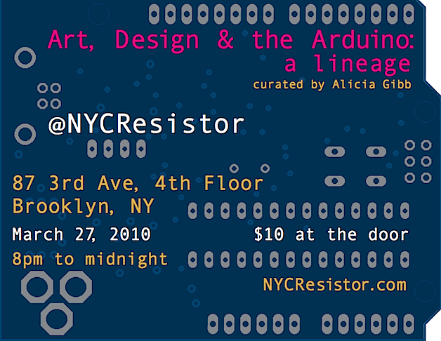 Arduino art show this Saturday in NYC