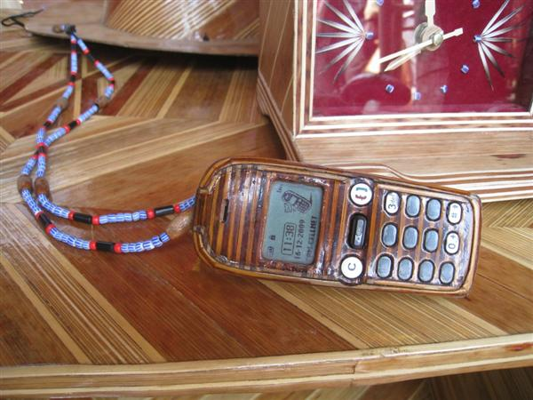 """Meticulously-crafted cell phone case by African """"bamboobender"""""""