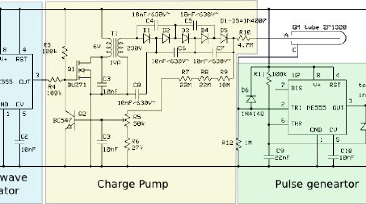 Typical Geiger Counter Circuit Looks Like This