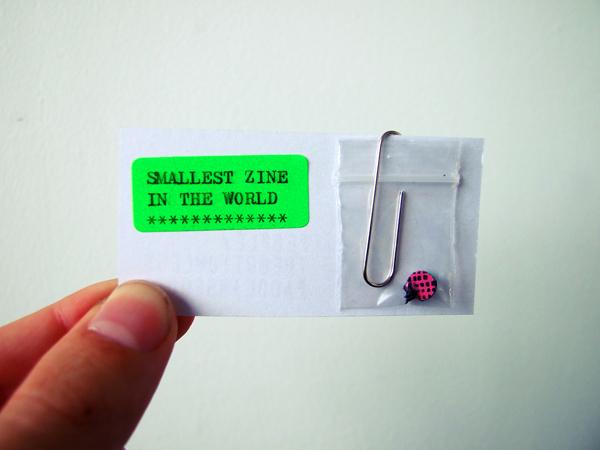 Smallest zine in the world