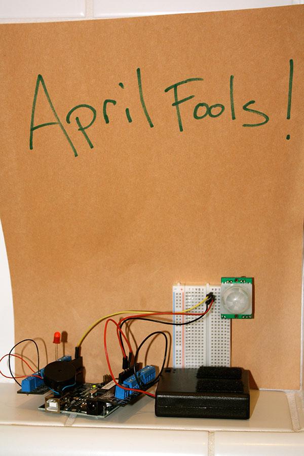 April Fools' Arduino alarm