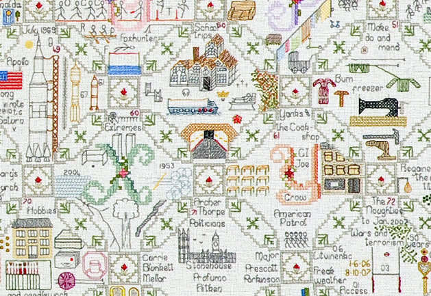 Woman's Life Story Told in Intricate Hand-Stitched Tapestry