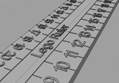 Lego ruler graduated in bricks, studs
