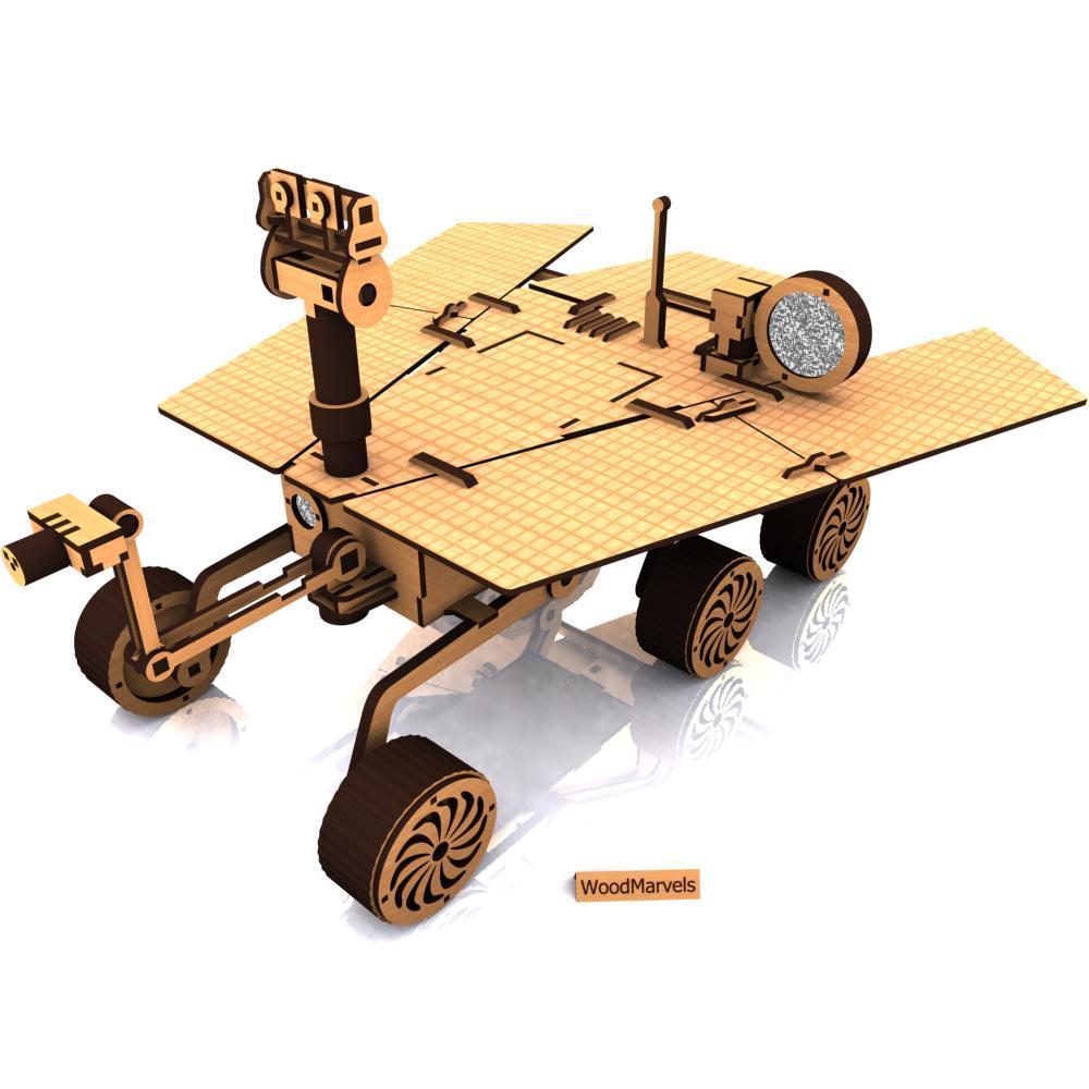 Impressive laser-cut Mars rover model…er, kinda