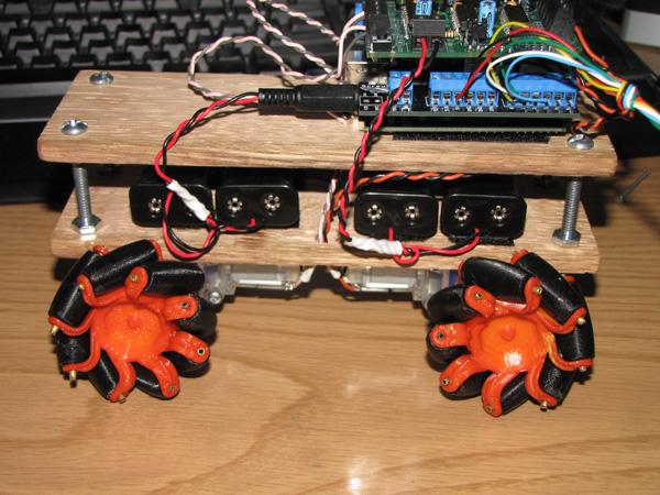 Sweet robot with mecanum wheels