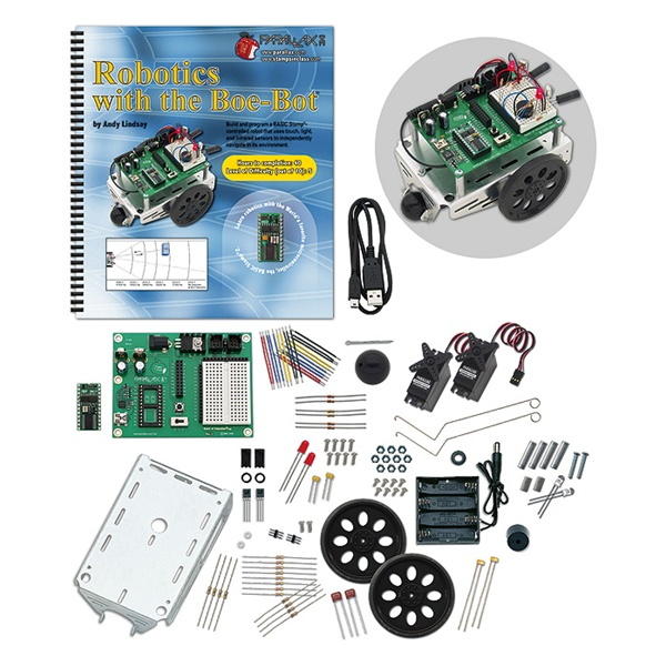New in the Maker Shed: Boe-Bot Robot Kit