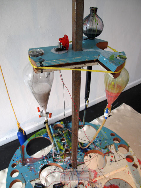 Art installation makes paintings