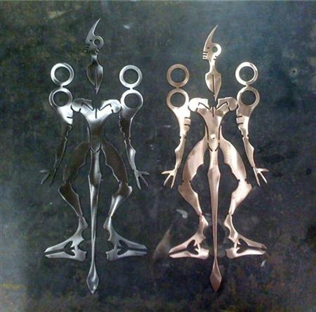 """Fold-up """"robotagami"""" figures"""