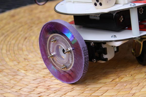 "Make: Robot Build, making wheels from ""coasters"""