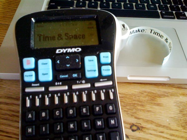 Make: Time & Space: Win a Dymo LabelManager!