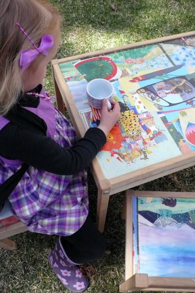 How-To: Decoupage a Kid's Art Table