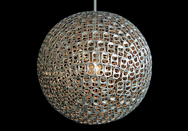 Spherical stay tab lampshade