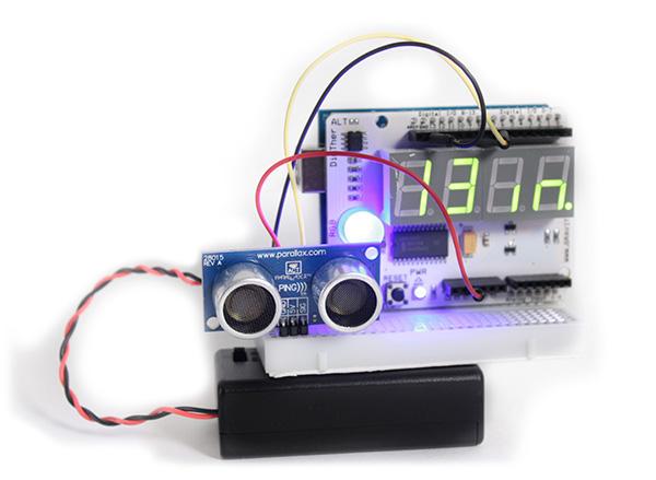 Ultrasonic Arduino tape measure