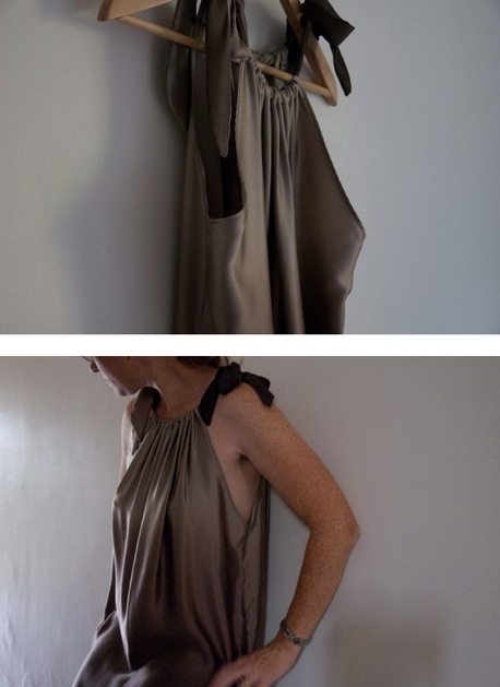 Six and a Half Stitches' Silk Draped Dress