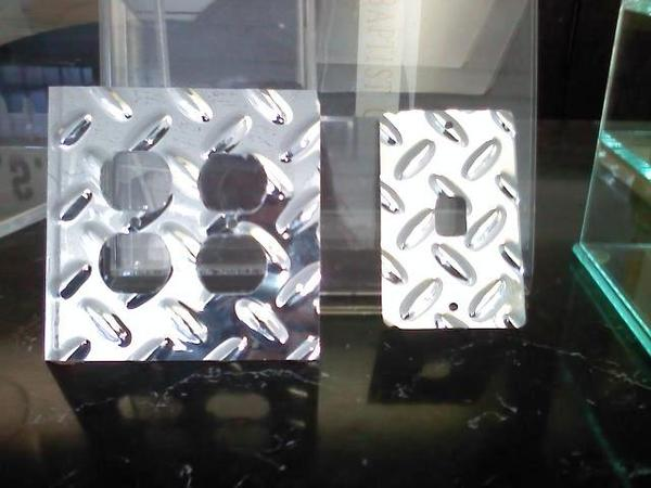 """Diamond plate"" industrial fixture plates on the cheap"