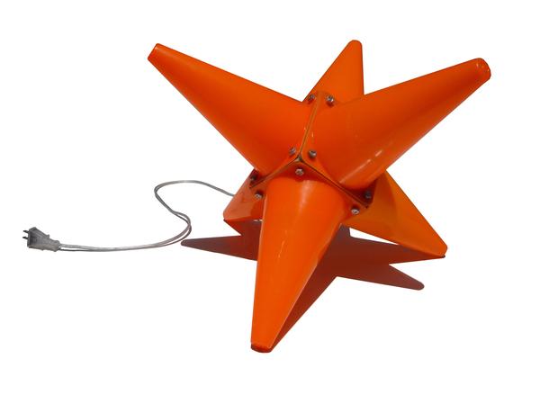 Orange traffic cone lamp