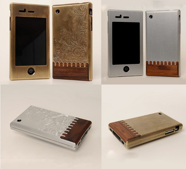 Custom machined, engraved, inlaid iPhone cases