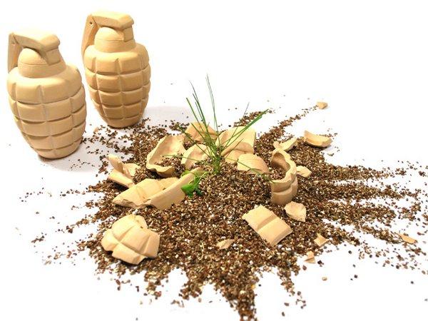 Ceramic seed grenade