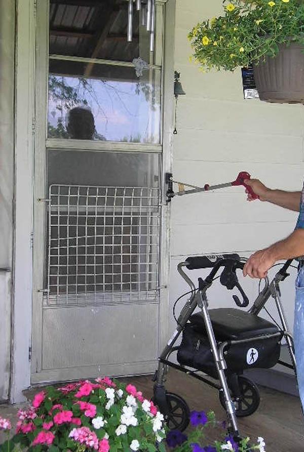 """Handicapped """"grabber"""" door opener hack"""