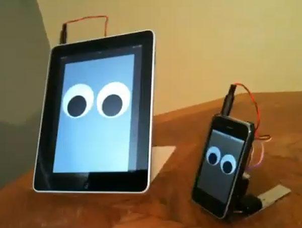 iPad walking robot