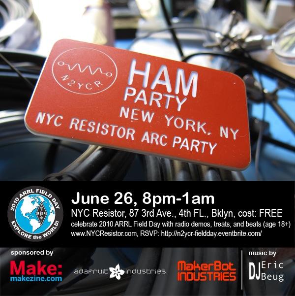 Ham radio party at NYC Resistor this Saturday