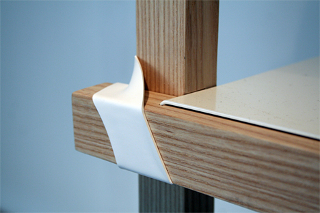 Heat-shrink tubing for furniture joints
