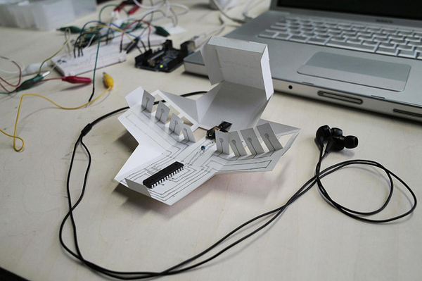 Paper and conductive ink piano