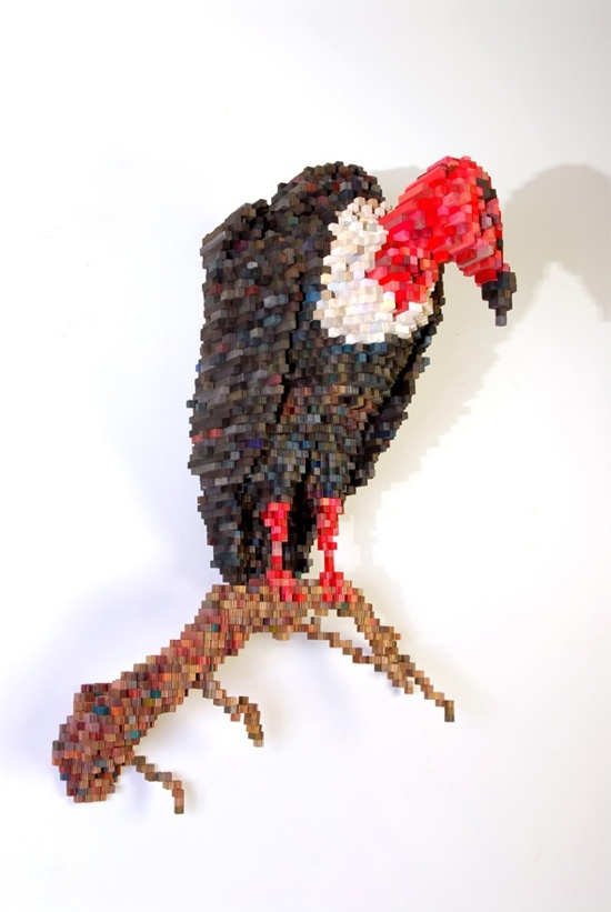 Shawn Smith's amazing pixel sculptures
