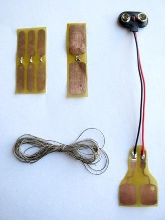 Sew-through PCBs for soft circuit designers