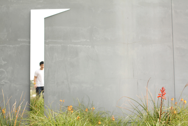 Cleverly-shaped mirror opens a door in any wall