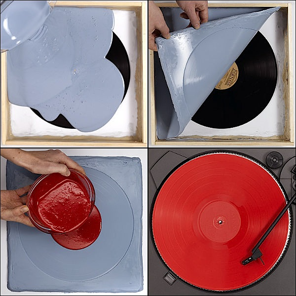 How-To:  Duplicate vinyl records by casting