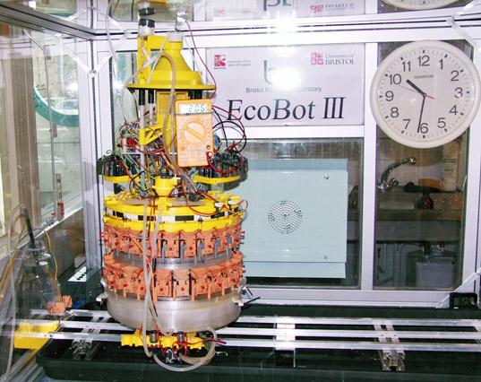 Biomass robot eats food, requires litter box