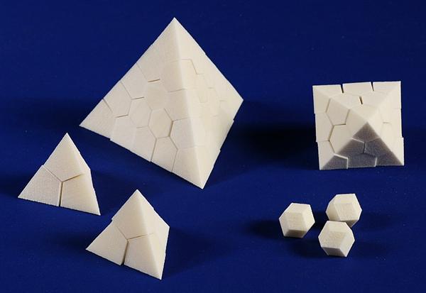 Unusual building blocks based on close-packed spheres