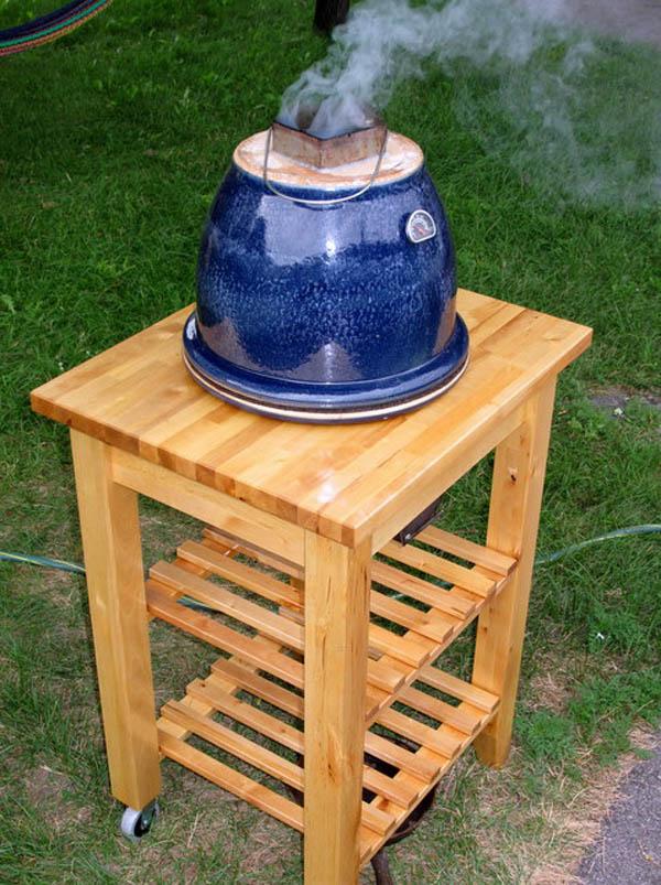 Little Blue Egg Flower Pot Grill