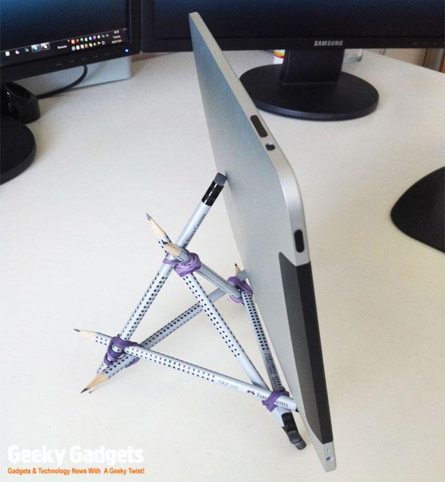 Pencil iPad stand