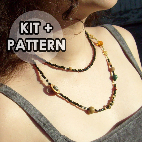 "Solar system necklace – ""Each bead represents 20 million miles"""
