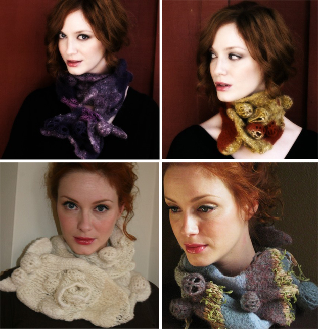 Mad Men's Christina Hendricks is also an Etsy Scarf Model