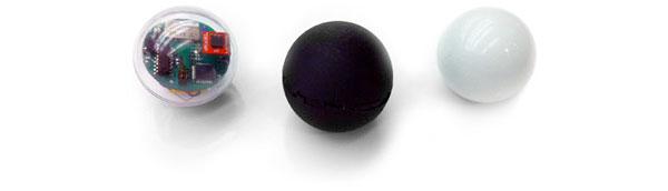 Robotic ball rolls via phone control