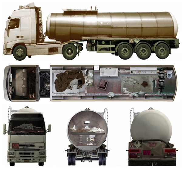 Post-apocalyptic tanker truck home concept