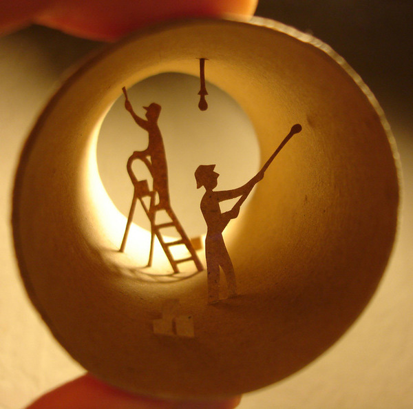 To see the world inside a toilet paper roll…