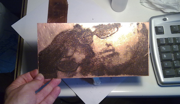Etching a portrait into a PCB