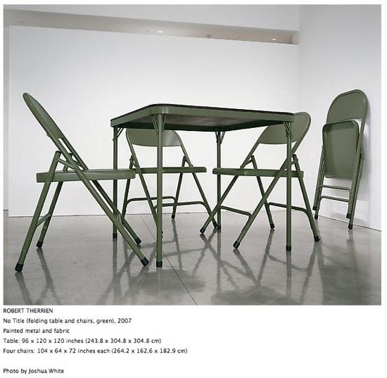 Robert Therrien's giant furniture