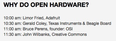 Open Hardware Summit schedule posted!