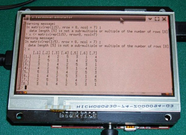DIY graphing calculator made with Beagleboard