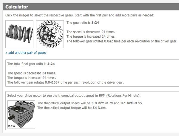 Computing Lego gear ratios