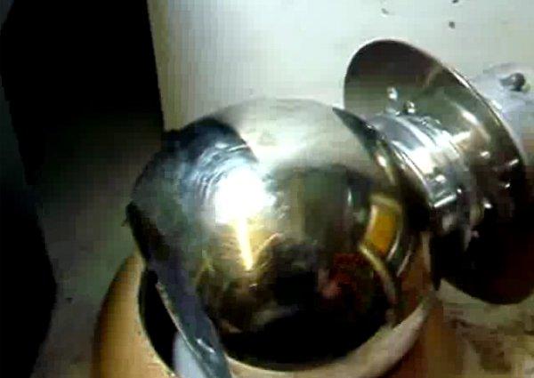 Homemade engraver's ball
