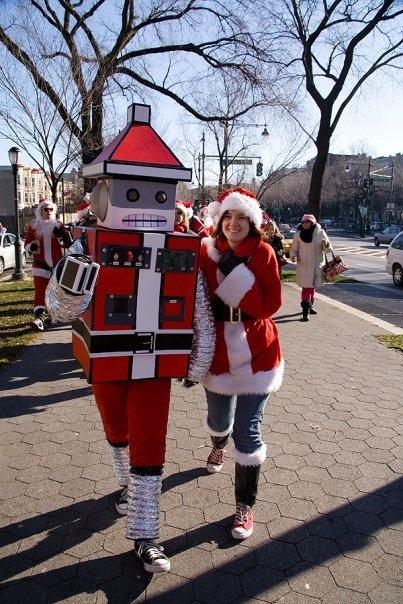 A robot Santa near you