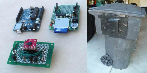 Trashcan accelerometer