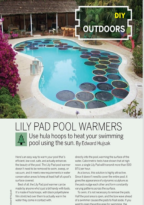 Weekend Project: Lily Pad Pool Warmers (PDF)